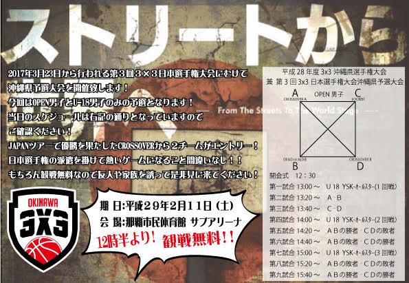 3×3沖縄予選組み合わせ